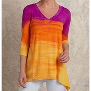 Soft Surroundings Tie Dye Asymmetrical Tunic - XS